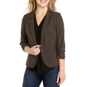 A BYER Gray Taupe Fitted Blazer